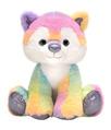 "Rainbow Sherbet - 10.5"" Sitting Wolf"