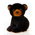 Fiesta Stuffed Big Eyes Black Bear 9""
