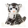 """Wego 9"""" Sitting Big Eyes White Tiger"""