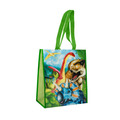 Dinosaur Scene Recycled Watercolor Tote Bag