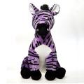 "15"" Stuffed Sitting Lavender Zebra"