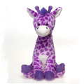 "17"" Stuffed Sitting Lavender Giraffe"