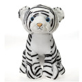 "15"" Stuffed Sitting White Tiger"