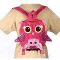 "Fiesta Girly Pink Owl Backpack 10"""