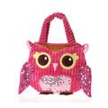 "Fiesta Girly Pink Owl  Purse 8.5"""