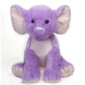 "15"" Stuffed Sitting Lavender Elephant"