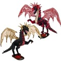 """2 Asst. Dragons 51"""" - Black and Red"""