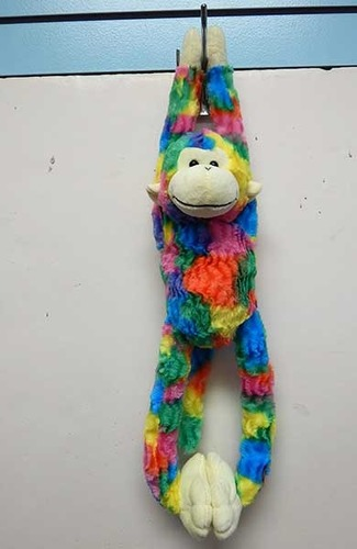 "Tug-A-Lug Stuffed Rainbow Crushed Monkey 24"" picture"