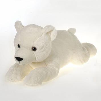"Fiesta Stuffed Laydown Polar Bear 16.5"" picture"