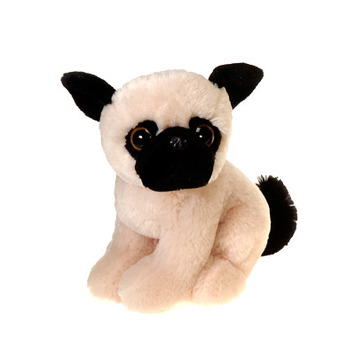 "Pugsley 9"" Sitting Big Eyes Pug picture"