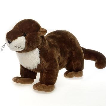 "Fiesta Stuffed River Otter 18"" picture"