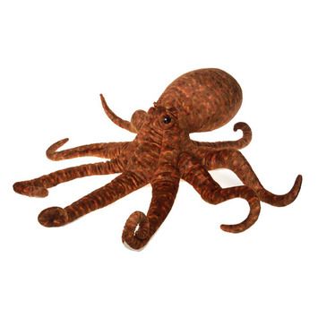 """Fiesta Stuffed Giant Brown Octopus 33"""" picture"""