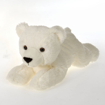 "Fiesta Stuffed Laydown Polar Bear 12"" picture"