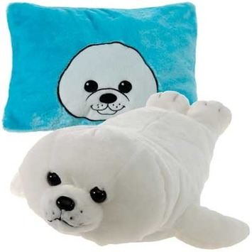 "Peek-A-Boo Plush Seal 18"" picture"