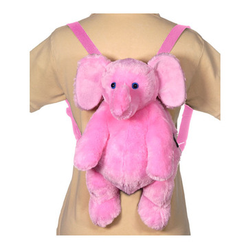 "16"" Pink Elephant Backpack picture"