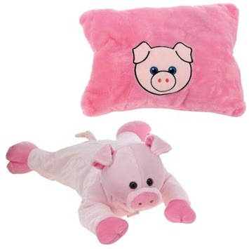 "Peek-A-Boo Plush Pig 18"" picture"