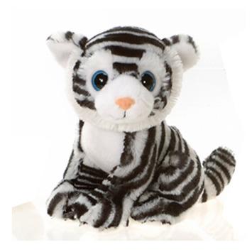 "Fiesta Stuffed Big Eyes White Tiger 9"" picture"