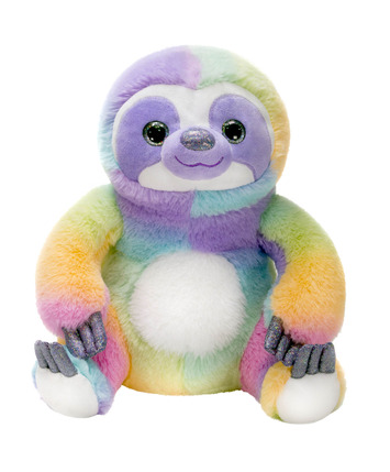 "Rainbow Sherbet - 11"" Sitting Sloth picture"