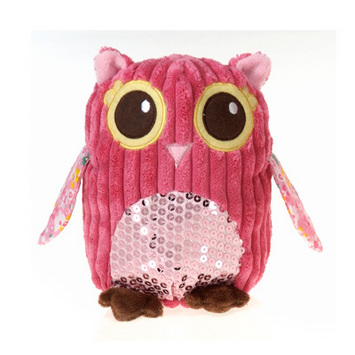 """Fiesta Girly Pink Owl Plush 8.5"""" picture"""