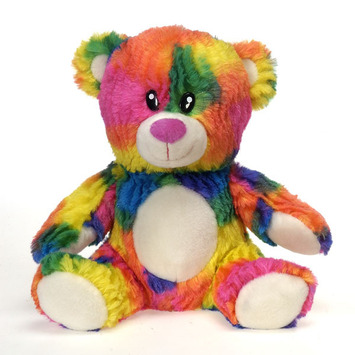 "Rianbow Crushed Tie Dye Bear 10.5"" picture"