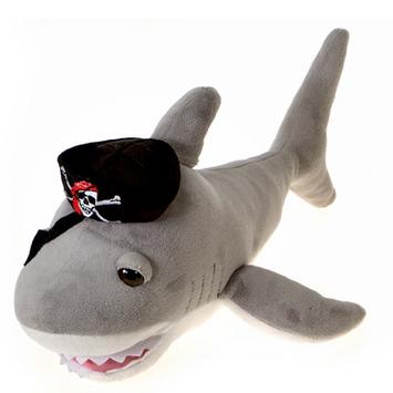 """Fiesta Stuffed Pirate Shark 14"""" picture"""