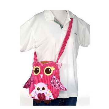 "Fiesta Girly Pink Owl Purse 11"" picture"