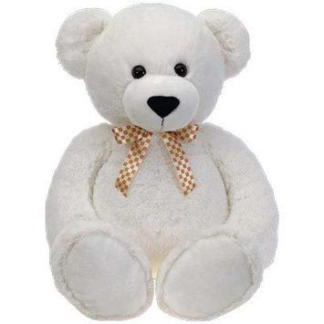 "Fiesta Stuffed Cuddle White Bear 38"" picture"
