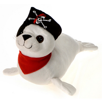 "Fiesta Stuffed Pirate Seal 14.5"" picture"