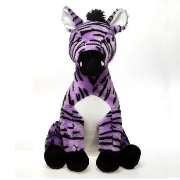 """Fiesta Stuffed Lavender Zebra 15"""" picture"""