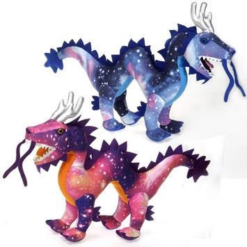 """20.5"""" Galaxy Dragon- PINK picture"""