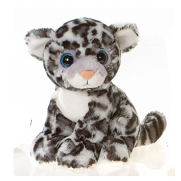 "Fiesta Stuffed Big Eyes Snow Leopard 9"" picture"
