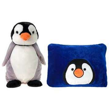"Peek-A-Boo Plush Penguin 18"" picture"