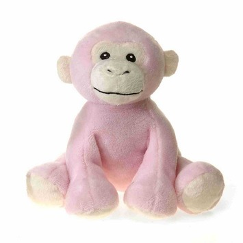 """Comfies - Pink Monkey w/Rattle 7.5"""" picture"""