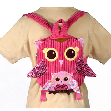"""Fiesta Girly Pink Owl Backpack 10"""" picture"""