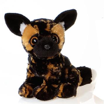 "Fiesta Stuffed Big Eyes African Wild Dog 9"" picture"