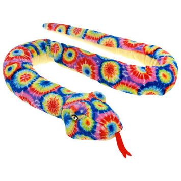 """Fiesta Stuffed Tie Dye Snake 61"""" picture"""