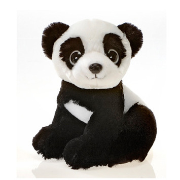 "Fiesta Stuffed Big Eyes Panda 9"" picture"