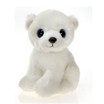 "Fiesta Stuffed Big Eyes Polar Bear 9"" picture"