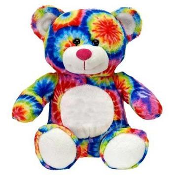 Fiesta Stuffed Tie Dye Bear 8' picture