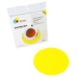 """Tenura Silicone Non-Slip Round Coaster - Yellow,  7 1/2"""" (19 cm) Diameter picture"""