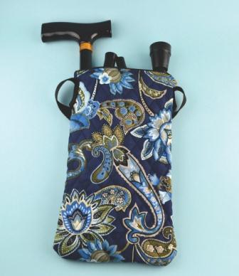 Folding Cane Bag - Blue picture