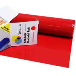 """Tenura Silicone Non-Slip Roll - Red,  3 1/5' x 7 3/4"""" (97.5 x 19.7 cm) picture"""