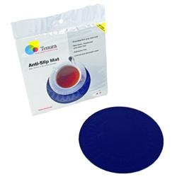 """Tenura Silicone Non-Slip Round Coaster - Blue,  7 1/2"""" (19 cm) Diameter picture"""