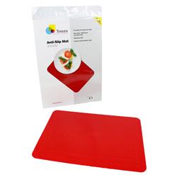 """Tenura Silicone Non-Slip Table Mat - Red, 13 3/4 x 10"""" (34.9 x 25.4 cm) picture"""