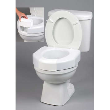 Basic Open Front Elevated Toilet Seat with Closed Front Option picture