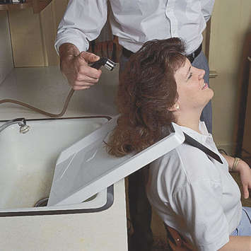 Shoulder Mounted Shampoo Rinse Tray picture