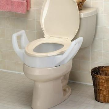 "Elevated Toilet Seat with Arms 3 1/2"", Standard picture"