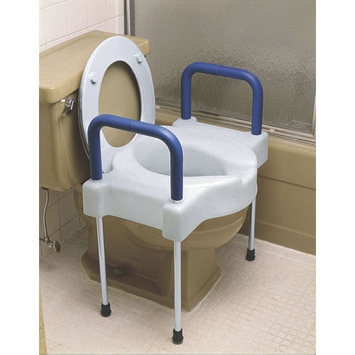 Extra Wide Tall-Ette® Elevated Toilet Seat with Aluminum Arms and Legs picture