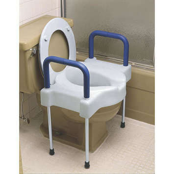 Extra Wide Tall-Ette® Elevated Toilet Seat with Steel Arms and Legs - Bariatric picture
