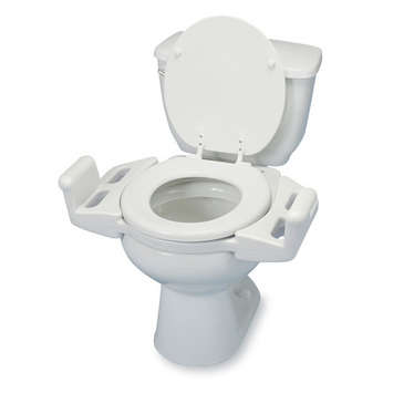 """Push-Up Elevated Toilet Seat with Arms - 3"""" picture"""